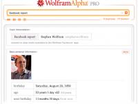 Система Wolfram Alpha узнает всё о вашем Facebook