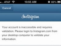 Instagram требует предъявить паспорт
