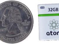 Представлена флешка на 32 Гб., размером с монету