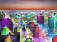 Американский дизайнер добавил на фото городов цветные мобильные сети