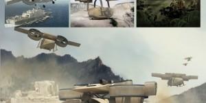 Американцы создали дрона-трансформера для транспортировки грузов