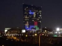 В честь 30-летия «Тетриса» в него сыграли на стене небоскрёба