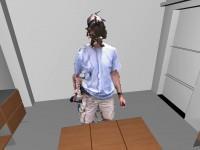 Программист создал виртуальный офис, используя камеры Kinect и шлем Oculus Rift