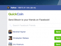 Система QuickCoin позволяет использовать виртуальные валюты через социальные сети