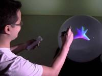 Сферический дисплей выводит полноценные трёхмерные объекты