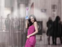 Воздушный электрозонтик защищает от дождя без купола