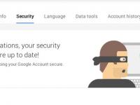 Используйте новую  панель в настройках безопасности Google, чтобы  надёжнее защитить ваш аккаунт