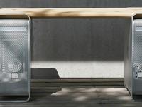 Немецкий дизайнер превратил старый компьютер от Apple в мебель