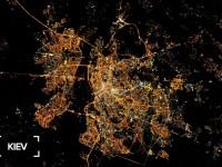 В Интернете опубликовали космический снимок ночного Киева