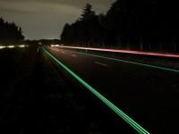 В Нидерландах появилось первое шоссе со светящейся разметкой