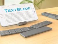 Клавиатура TextBlade заменяет полноценную QWERTY-раскладку, имея всего 8 клавиш