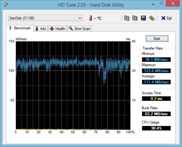 Тест HD Tune