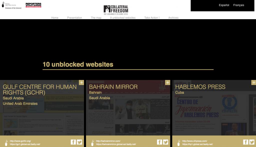 «Репортёры без границ» сняли правительственную блокировку с «неугодных» сайтов