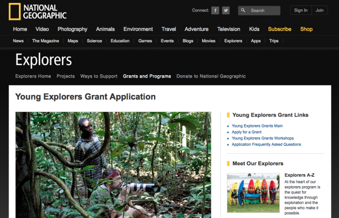 National Geographic учреждает грантовую программу для молодых учёных