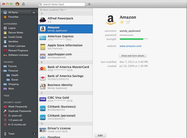 Утилита 1Password — наиболее популярный МП среди пользователей Mac-систем
