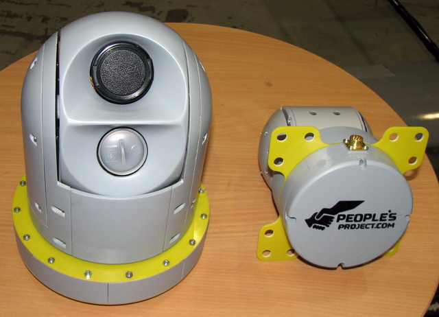В нижней части БПЛА крепится видеокамера и тепловизор чтобы выявлять дислокацию вражеских войск