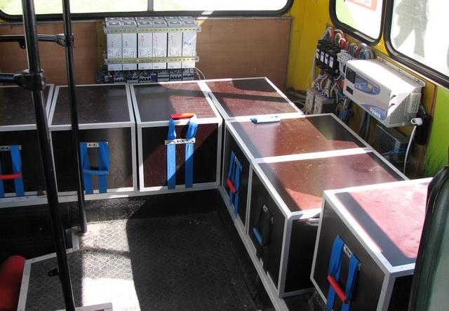 Литиево-ионные батареи установлены в задней части салоне, в специальных деревянных ящиках
