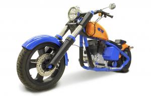 Общий вид мотоцикла в сборе