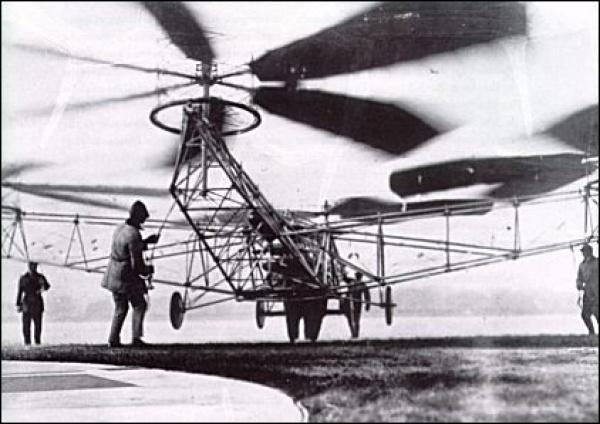 Первый в мире квадрокоптер Георгия Ботезата, поднялся в воздух в 1922 году