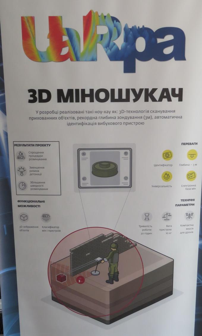 3D-міношукач виконує тримірне сканування об'єктів на глибині до 3м