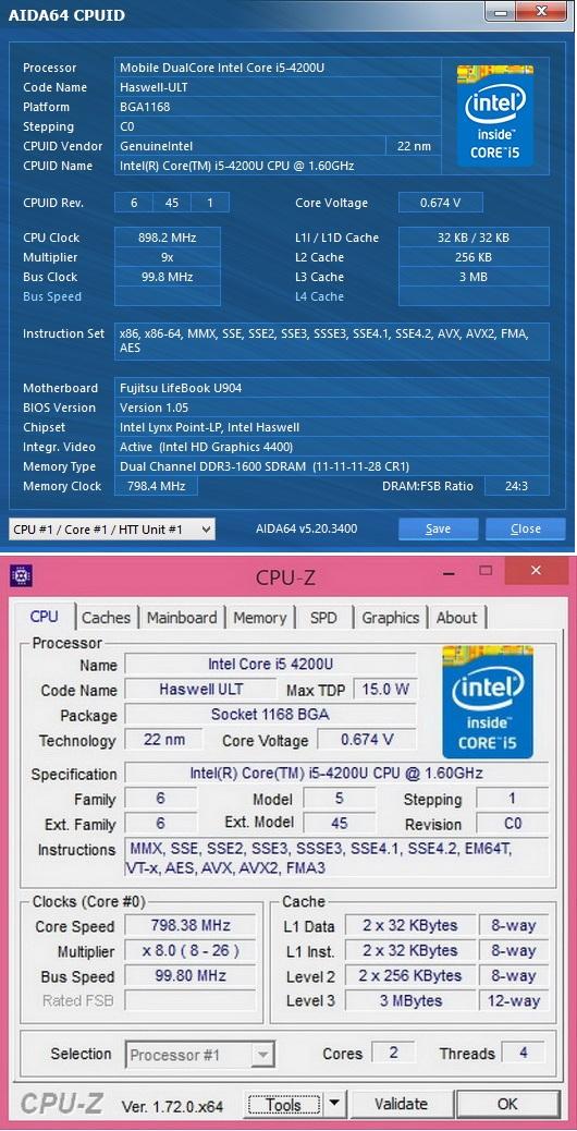 Характеристики процессора Intel Core i5-4200U