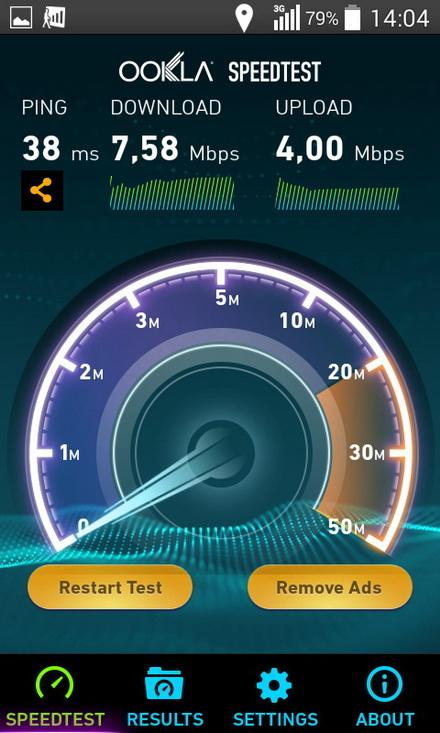 Скорость интернета на расстоянии 100 метров от соты indoor 3G МТС