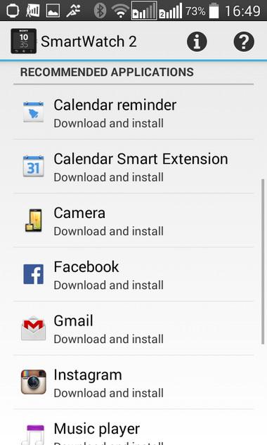 «Накачка» функциональностью:  в Google Play можно найти множество приложений специально для SmartWatch 2