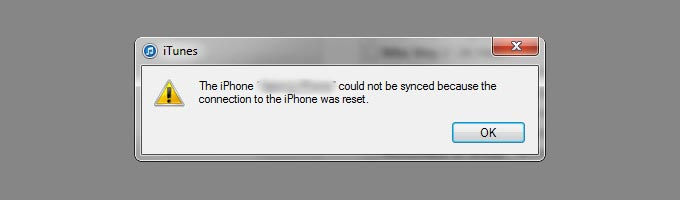 Troubleshoot-Connection-to-the-iPhone-was-Reset-Error-in-iTunes