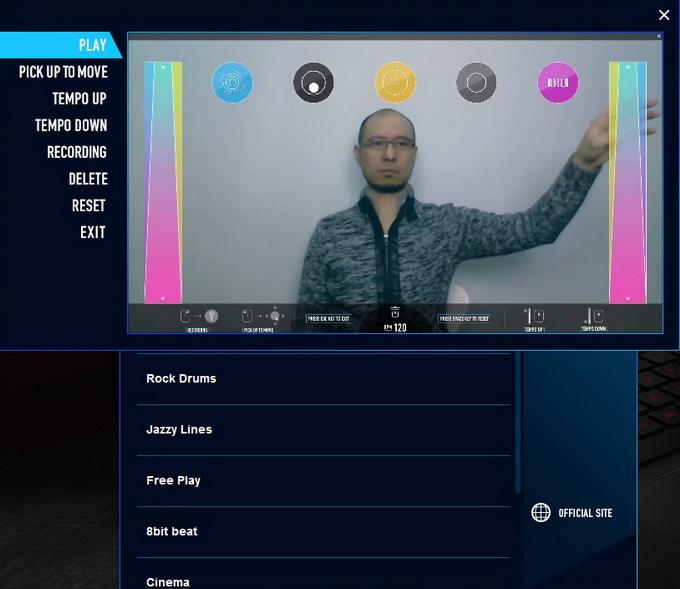 Приложение KAGURA использует бесконтактный принцип игры на музыкальных инструментах. С помощью пасов руками можно извлекать звуки из различных инструментов, увеличивать или уменьшать темп музыки и т. д.