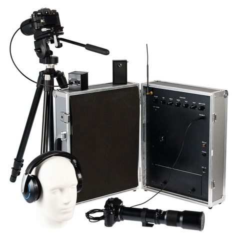 Пристрій для підслуховування за допомогою лазерного проміня. Ефективний радіус дії — до 500 метрів