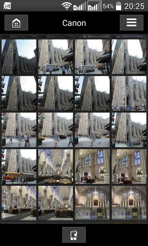 Посредством приложения Canon Connect прямо на смартфоне или планшете можно просматривать фотографии, записанные на камере