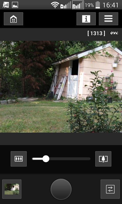 Приложение позволяет дистанционно управлять камерой: регулировать фокусное расстояние (величину приближения), изменять режим работы вспышки, включать таймер автоматической съемки и «нажимать» кнопку спуску затвора