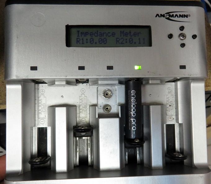 Внутреннее сопротивление замороженного аккумулятора Panasonic Eneloop Pro