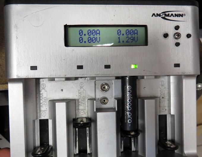 Напряжение без нагрузки в замороженном аккумуляторе составило 1,29В