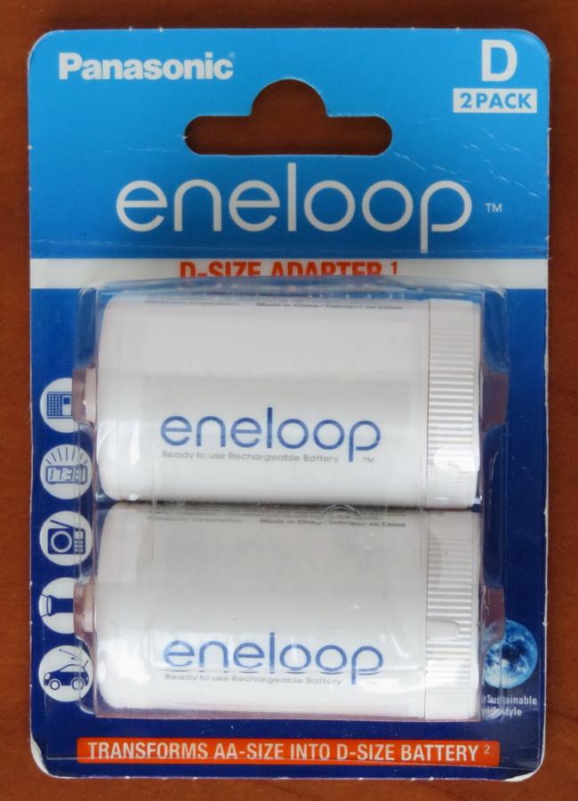 Благодаря способности Panasonic Eneloop Pro отдавать большой ток, их можно использовать в качестве батарей D-размера, при наличие специального адаптера