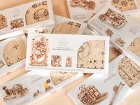 Український дерев'яний конструктор механічних іграшок готується вийти на Kickstarter