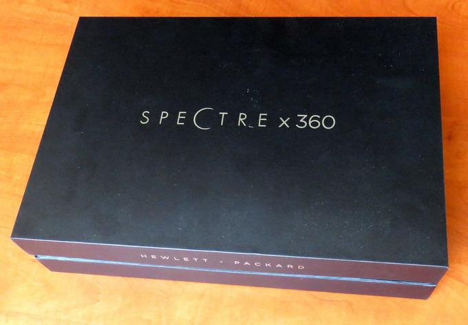 Даже упаковочная коробка в HP Spectre X360 G1 выполнена стильно и элегантно