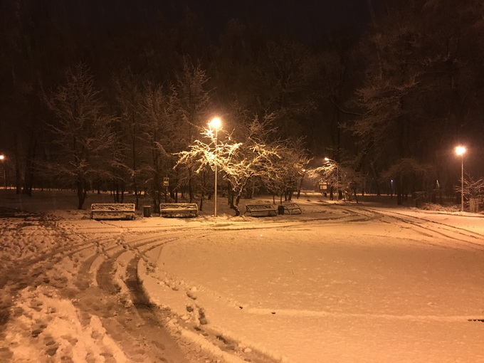 Снимок, сделанный с помощью основной камеры ночью
