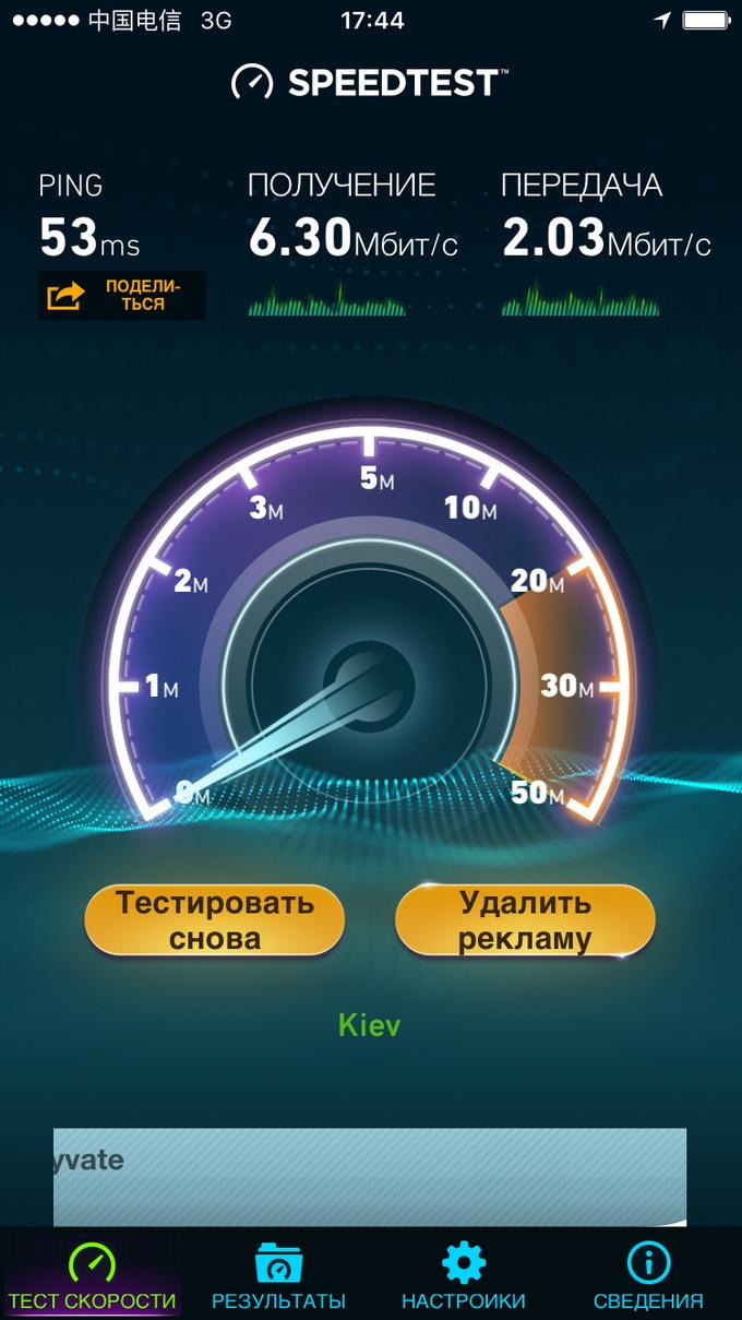 Скорость передачи данных в 3G-сети Интертелекома достигала 6,3 МБит/с