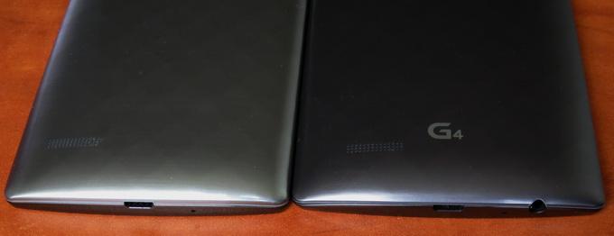 На нижнем торце G4 разместился выход для наушников и разъем Micro-USB. В модели G4s здесь находится только разъем Micro-USB