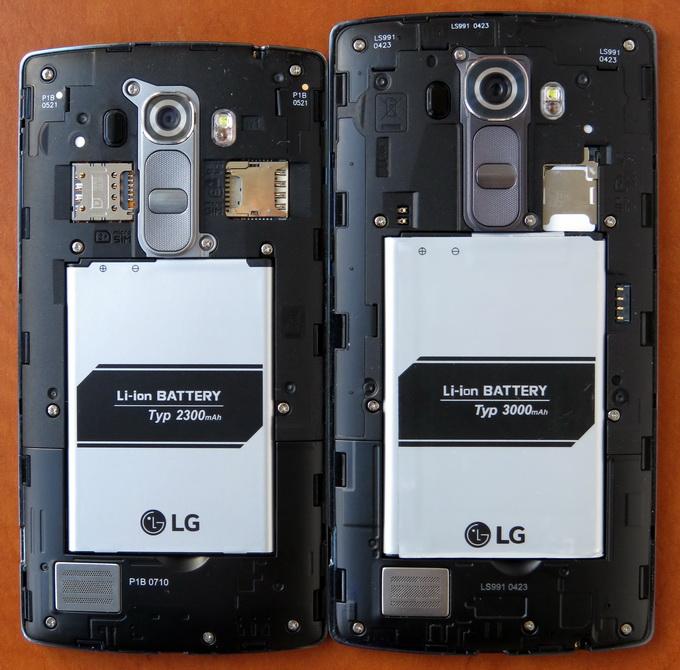 Корпус моделей LG G4 и LG G4s — разборной, со съемной задней крышкой. Под ней можно увидеть съемную батарею, слот для карт памяти microSD, а также слот для одной или двух SIM-карт