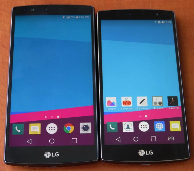 Внешне LG G4 и LG G4s очень похожи, разве что «младшая» модель чуть меньше, и индикатор событиый у нее находится справа, а не слева