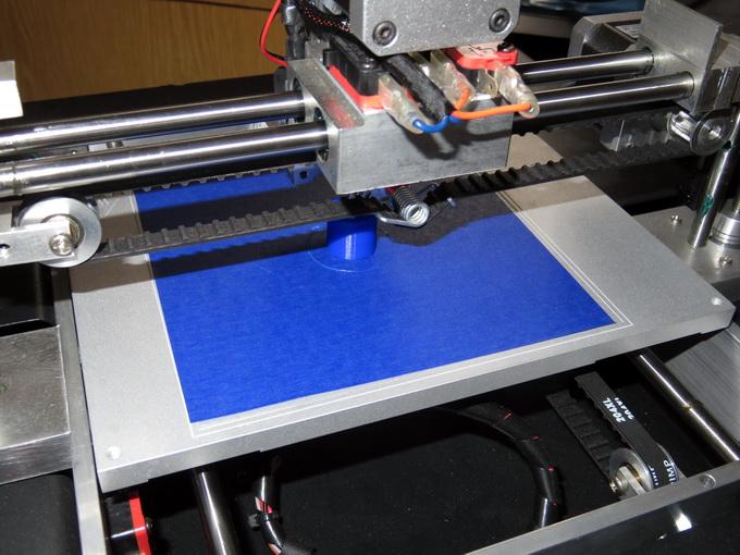 3D-печать — это длительный процесс. полого цилиндра высотой 30 мм занимает около часа