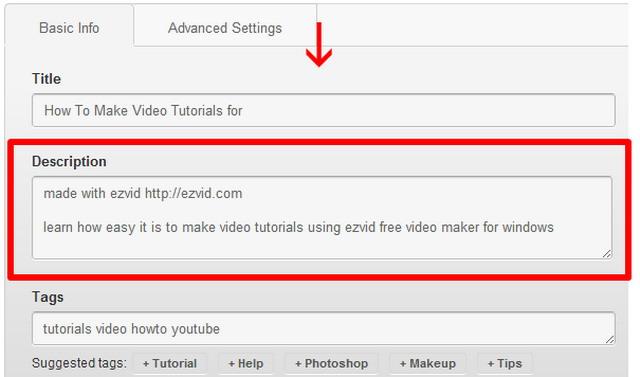 Ключевое слово надо включить в название видеоролика, в описание, и в тэги