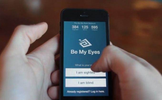 Программное приложение для iPhone Be My Eyes соединяет слепых пользователей с добровольцами по всему миру