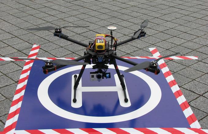 Квадрокоптер FlyOver с видеокамерой на подвесе