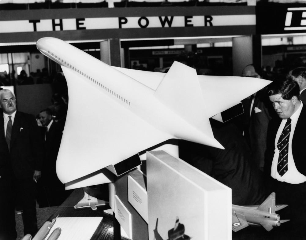Вересень, 1962 р. Модель Конкорда на профільній виставці Farnborough Air Show в Сполученому Королівстві (Фото Keystone-France/Gamma-Keystone via Getty Images)