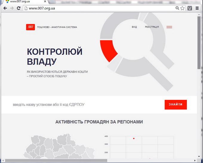007.org.ua — це доступний для кожної людини інструмент контролю держави, який допоможе слідкувати за бюджетними витратами