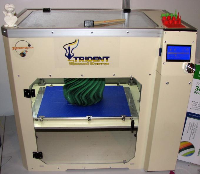 3D-принтер Trident. Обе модели сделаны в Украине