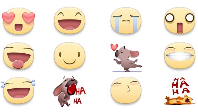 Первоначально мы изучили верхние стикеры и эмодзи, чтобы понять, какие типы реакций уже используют в Facebook
